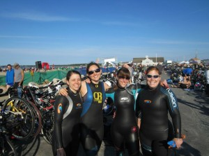 The girls, pre-triathlon